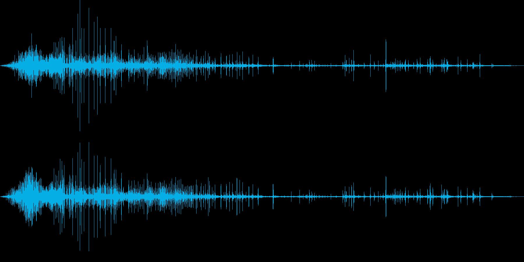 ギリギリ締め付けるような音1の再生済みの波形