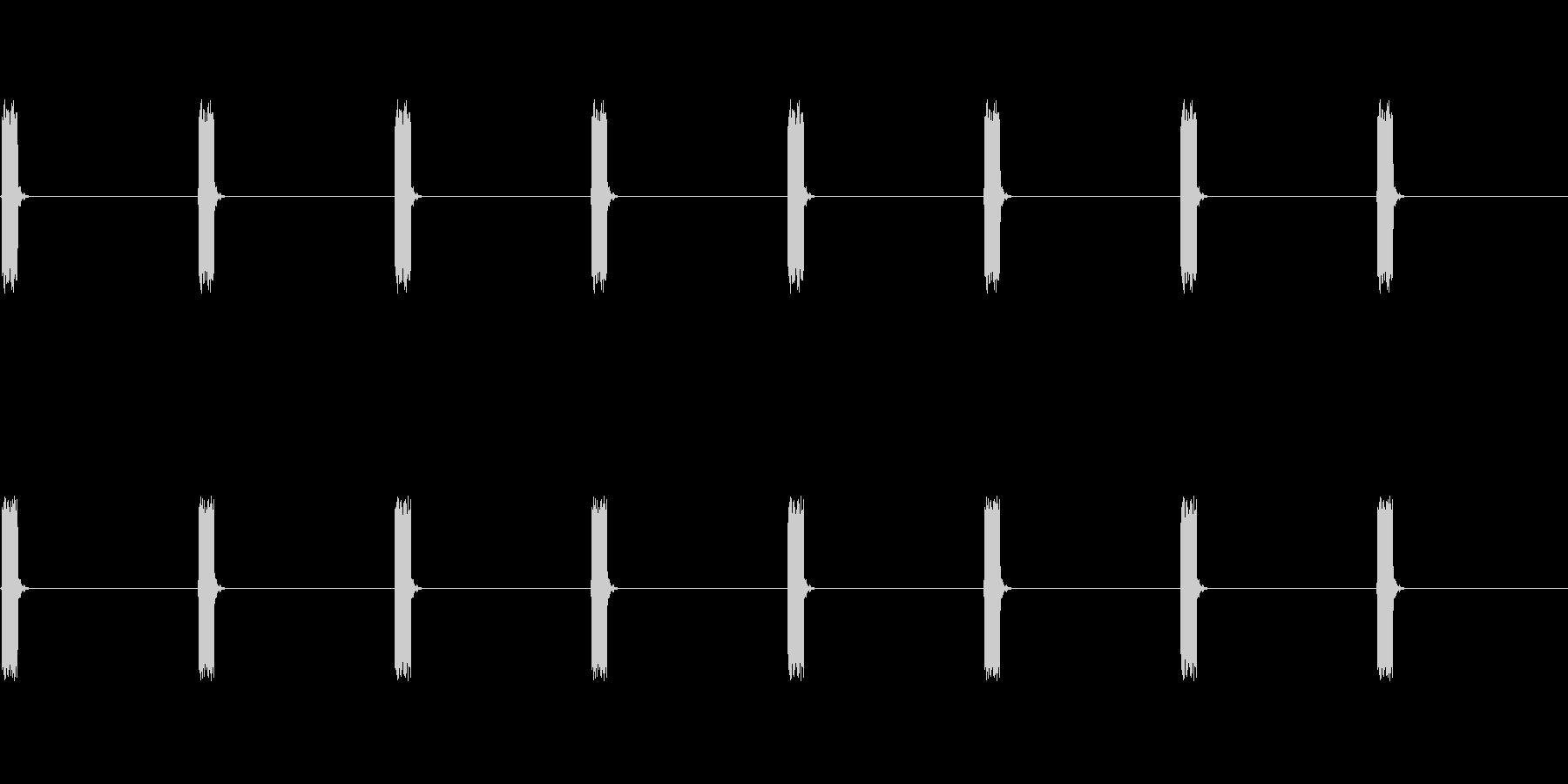 【電子音】心電図 ピッピッピッ(規則的)の未再生の波形