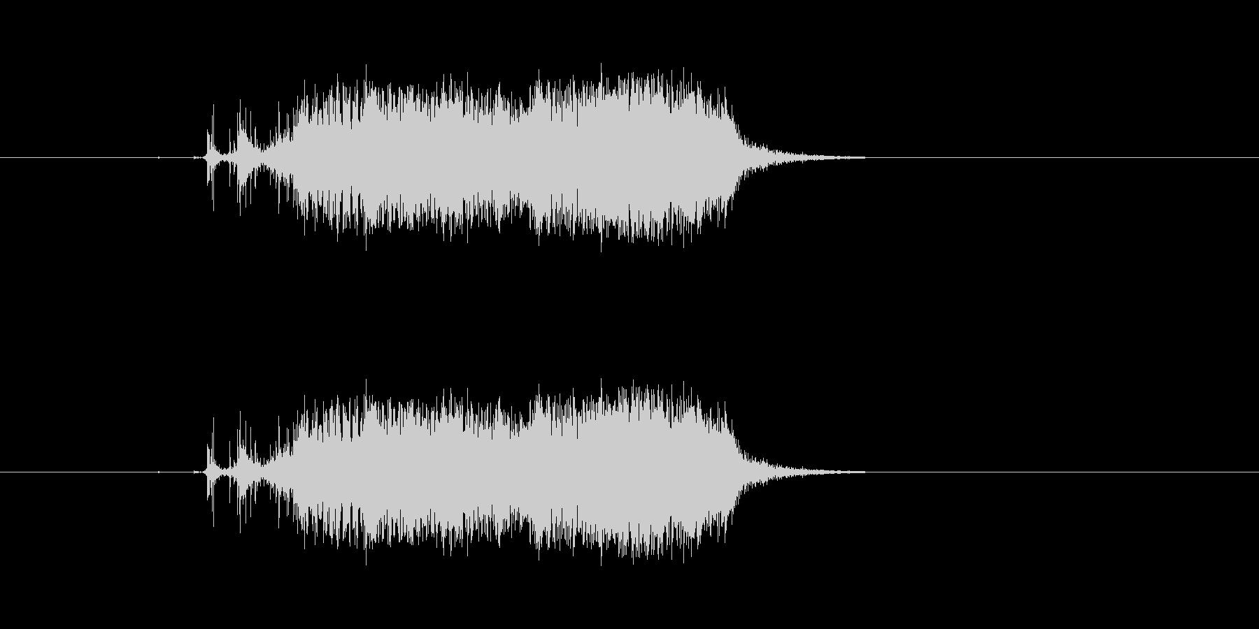ビリ〜!紙を勢いよく破る 効果音 01 の未再生の波形