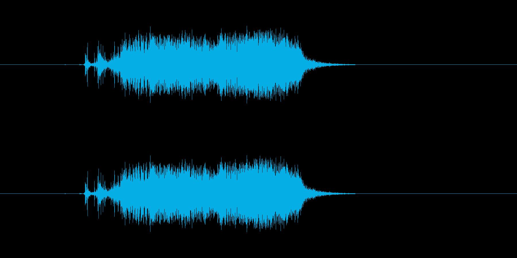 ビリ〜!紙を勢いよく破る 効果音 01 の再生済みの波形