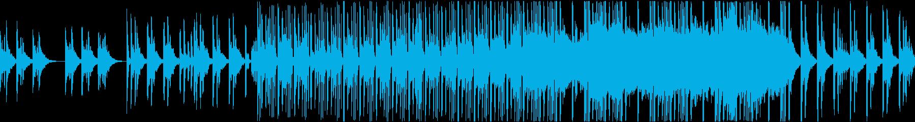 切ないピアノと荒廃的なドラムのループ曲の再生済みの波形