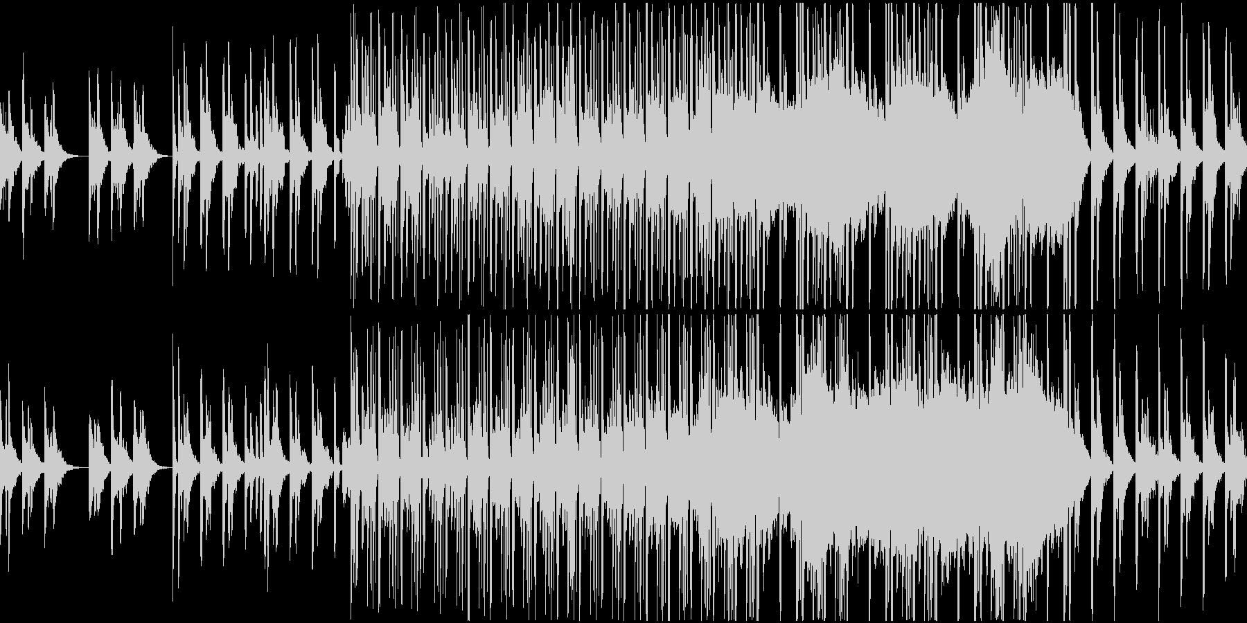 切ないピアノと荒廃的なドラムのループ曲の未再生の波形