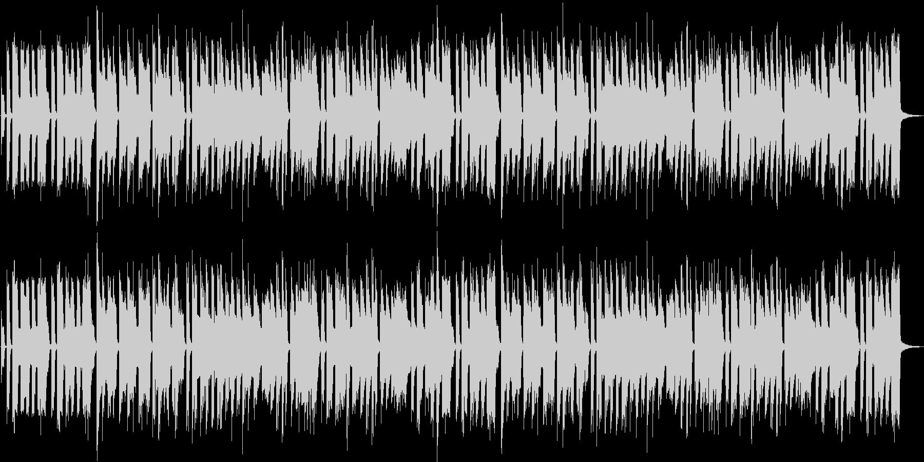 少しお茶目なブルース風のロックの未再生の波形