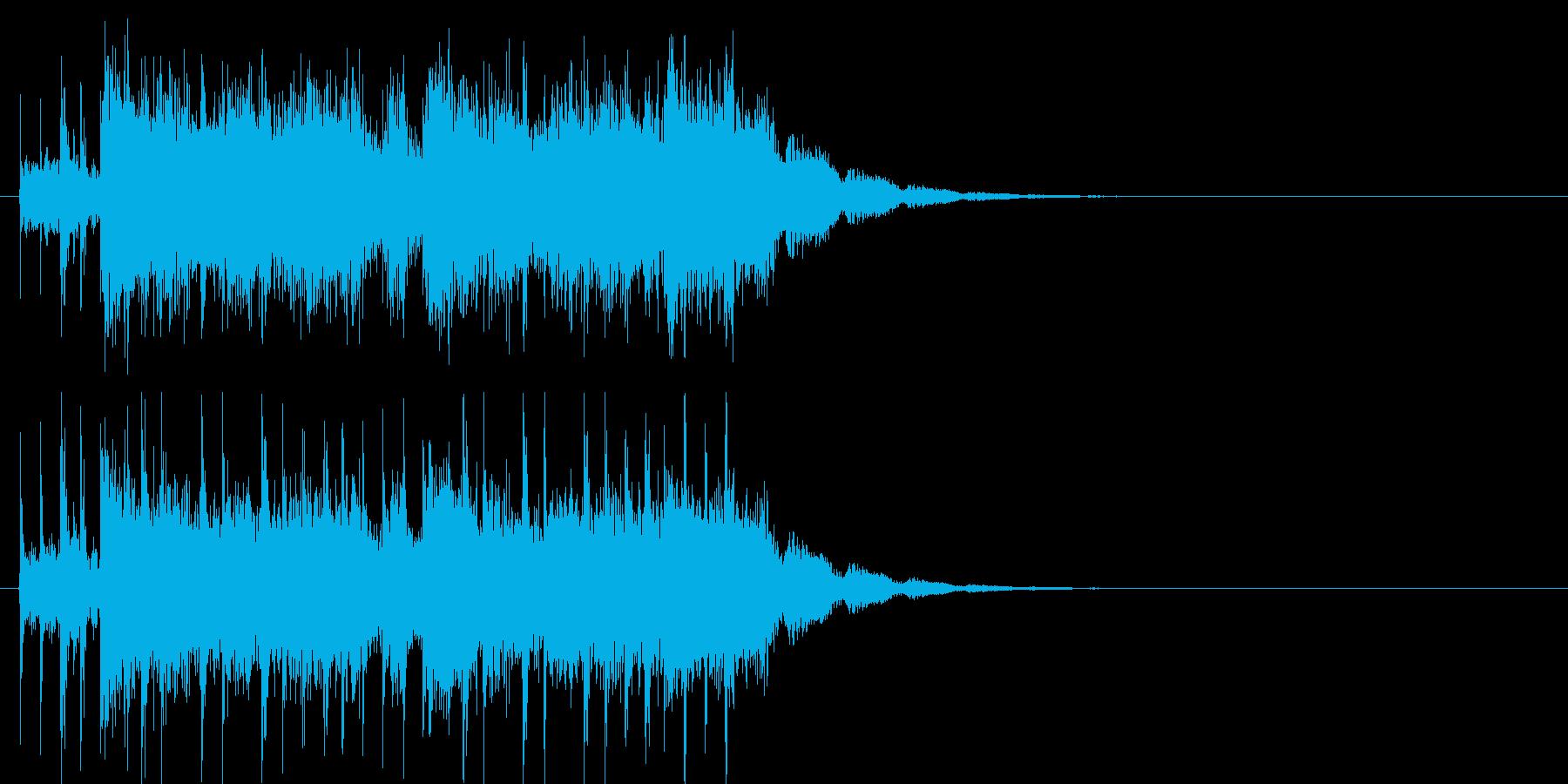 かっこいいロックの再生済みの波形