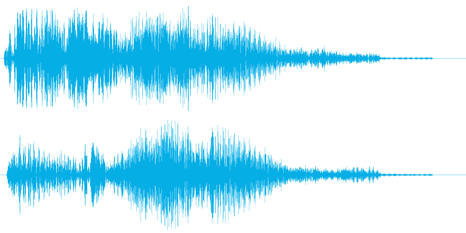 ヒュウーン!(スピード感のある効果音)の再生済みの波形