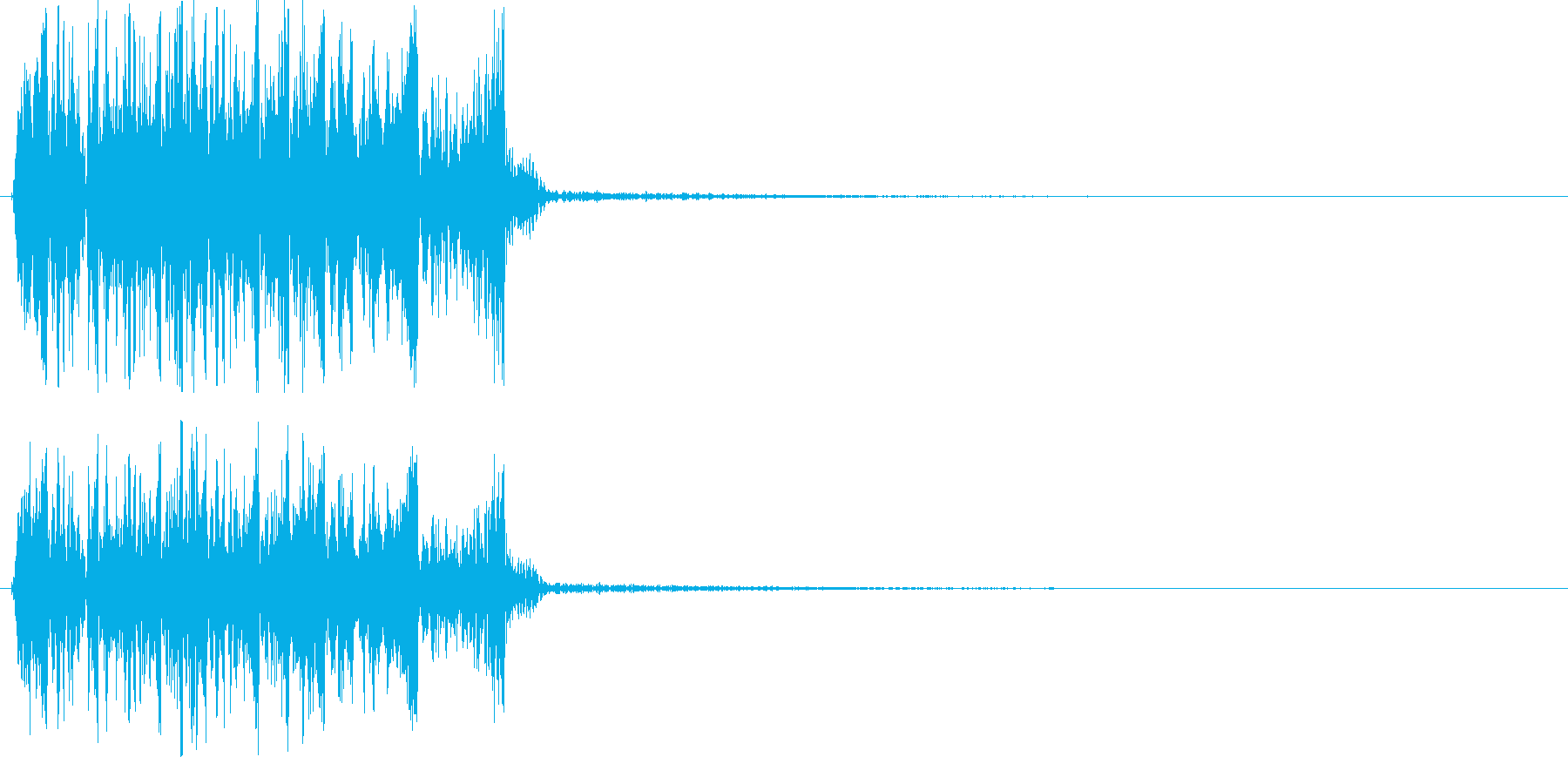DJがレコードを素早く巻き戻した音の再生済みの波形