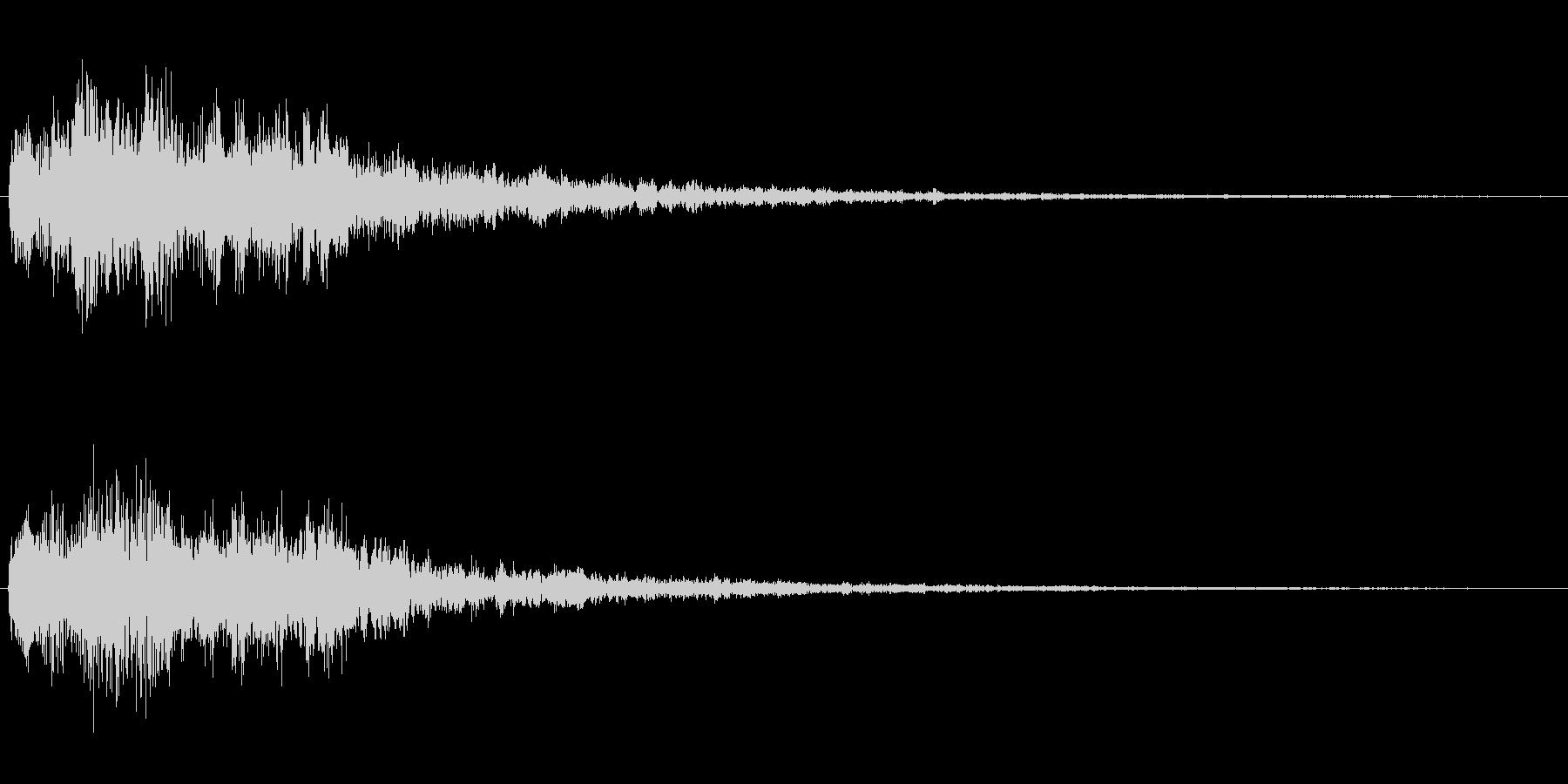 場面転換の音2の未再生の波形