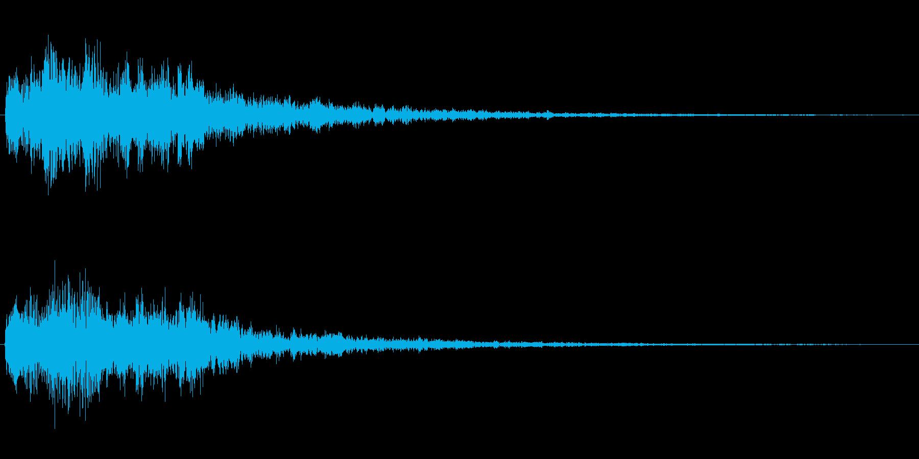 場面転換の音2の再生済みの波形