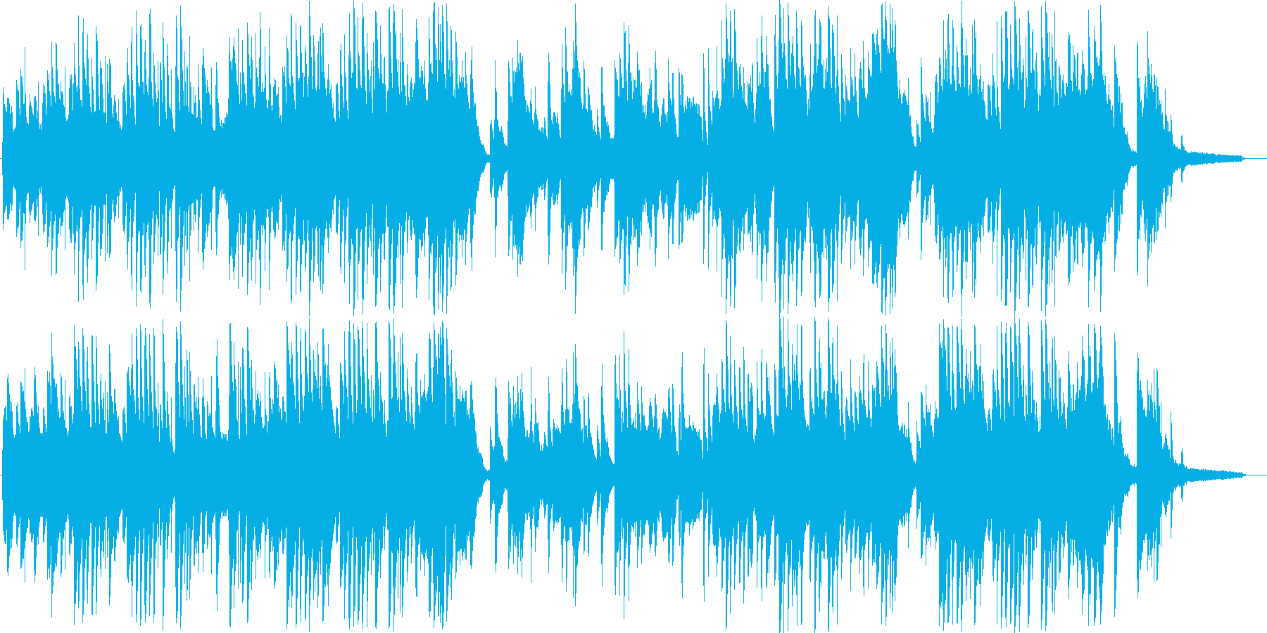 星空・夢の中のキラキラとかわいいワルツの再生済みの波形