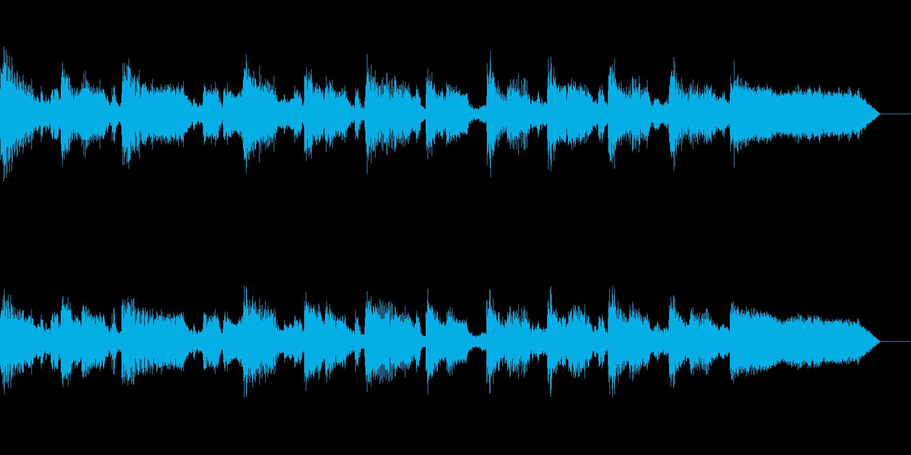 ほのぼのとしたオーケストラの再生済みの波形