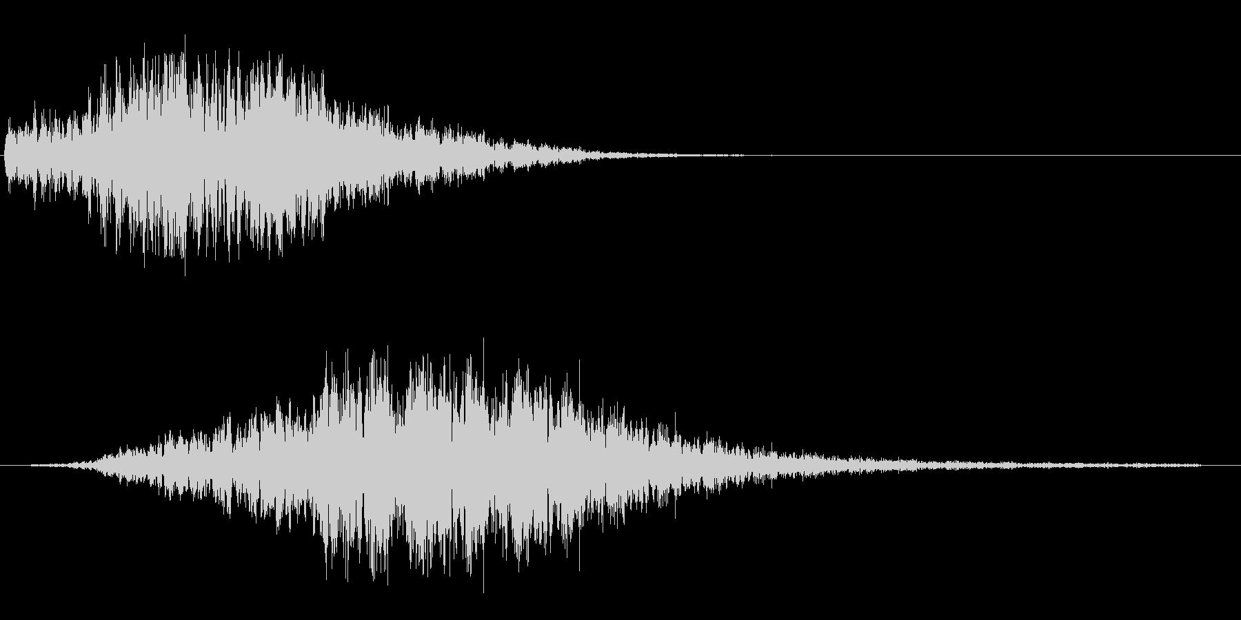 シュー(宇宙船が目の前を横切るような音)の未再生の波形