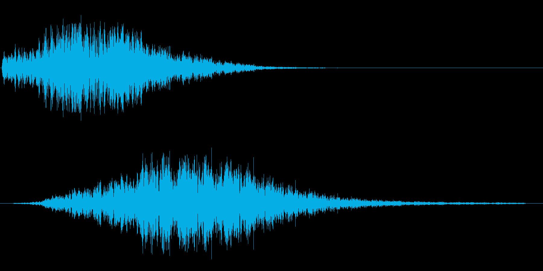 シュー(宇宙船が目の前を横切るような音)の再生済みの波形