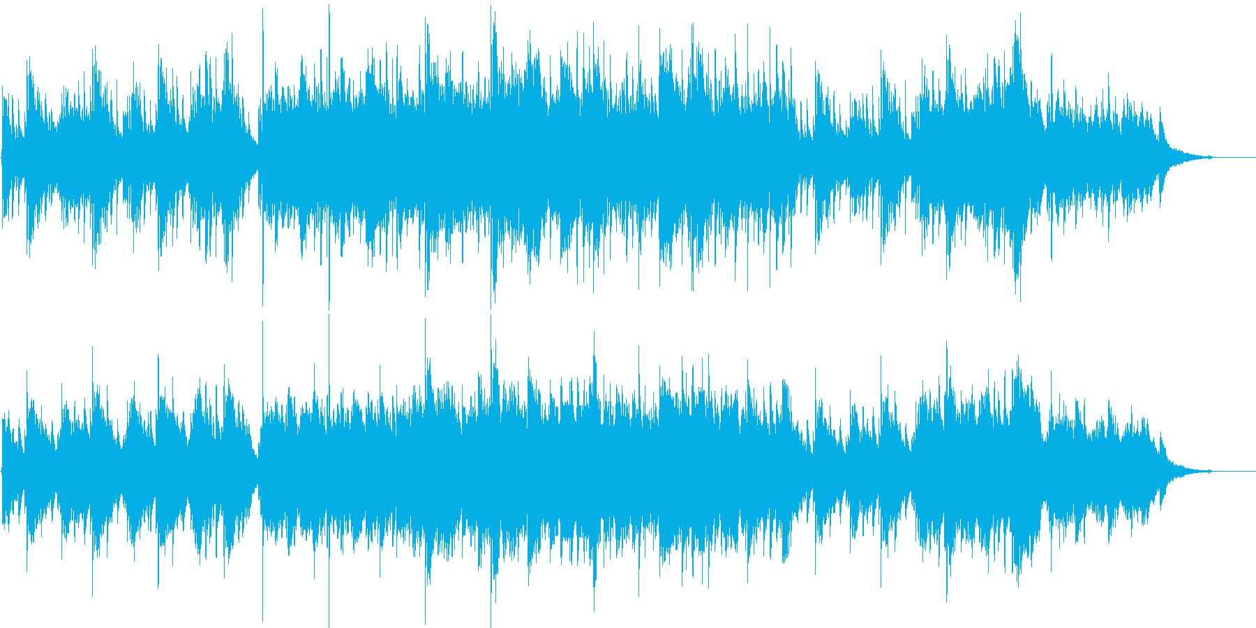 ピアノとストリングスの優しい曲04の再生済みの波形