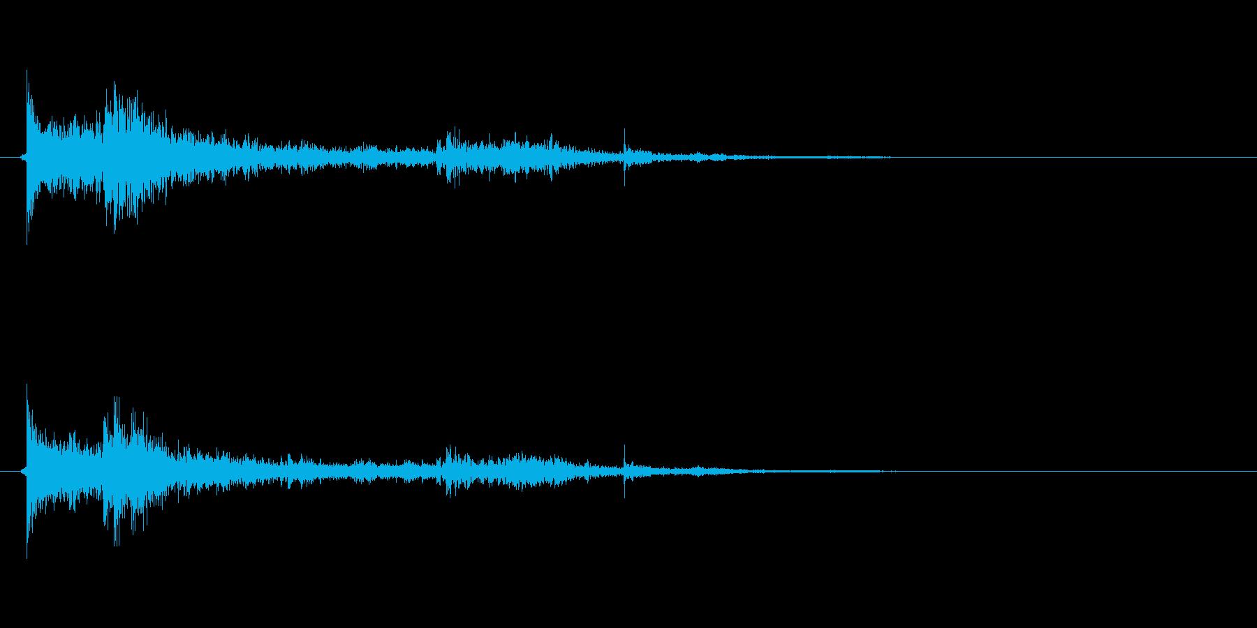 水に飛び込む音01の再生済みの波形