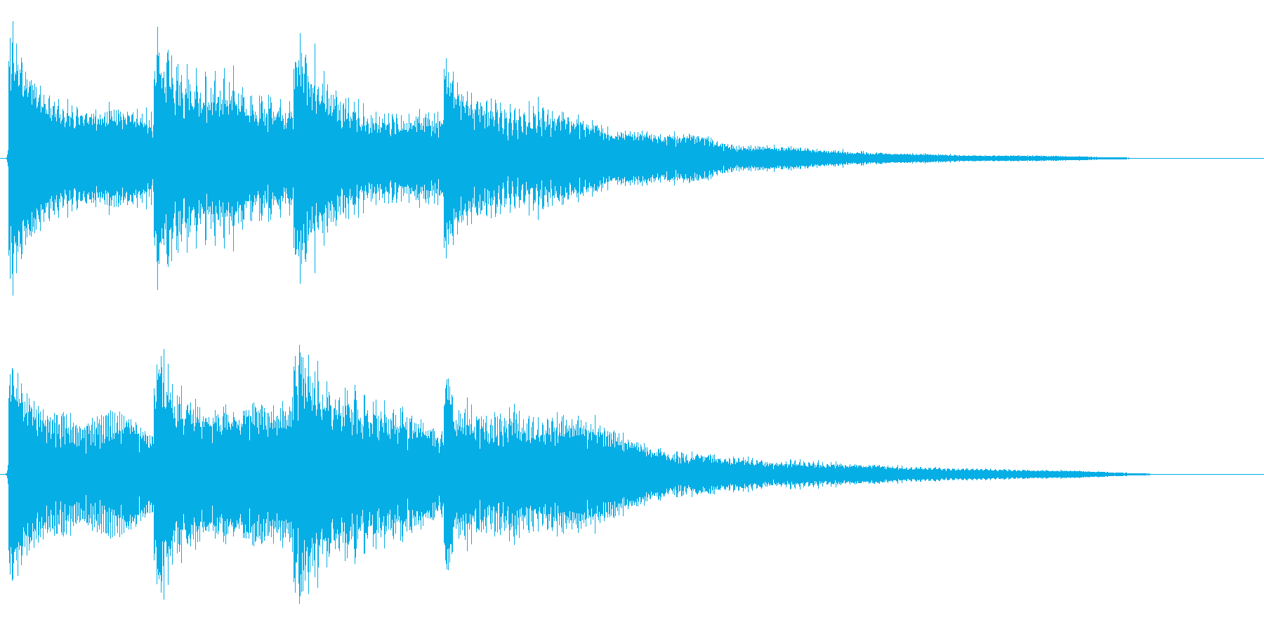 不思議な雰囲気のする効果音です。の再生済みの波形