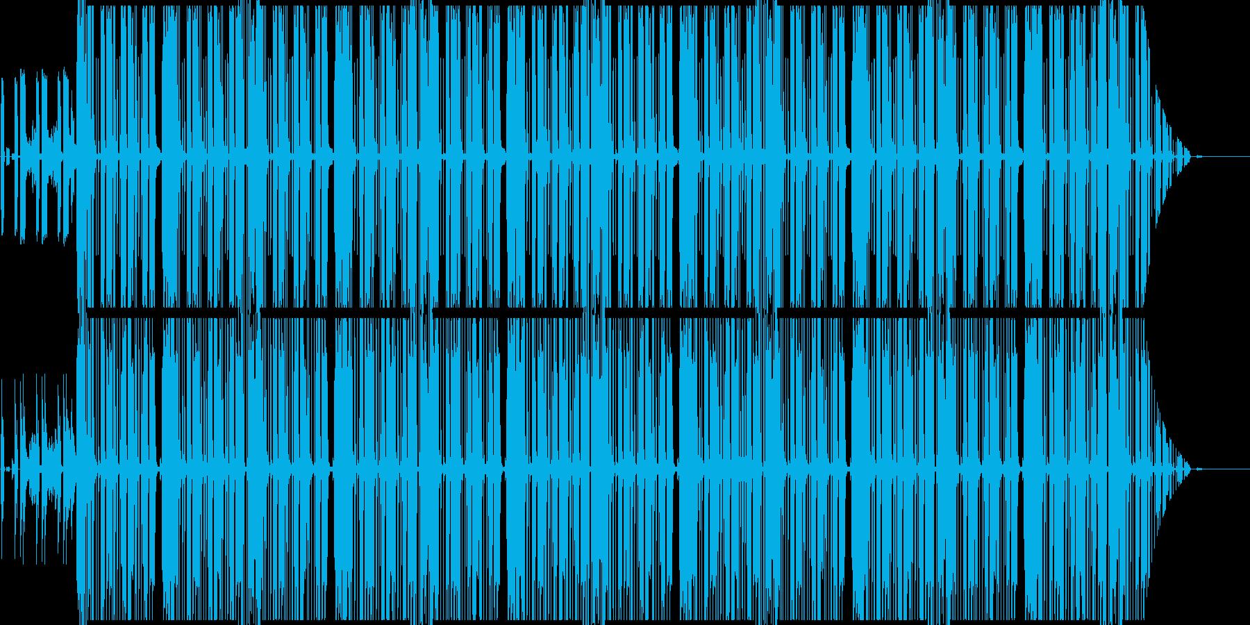 近代hiphopのサイファー用ビートの再生済みの波形