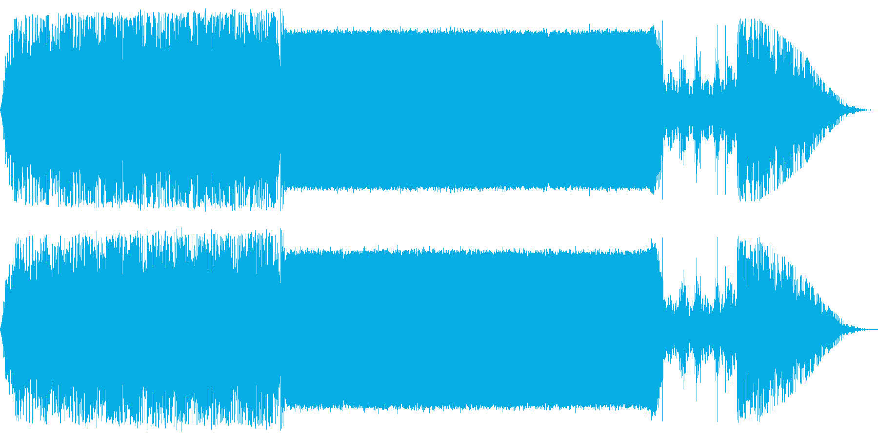 さわやかなロックインストの再生済みの波形