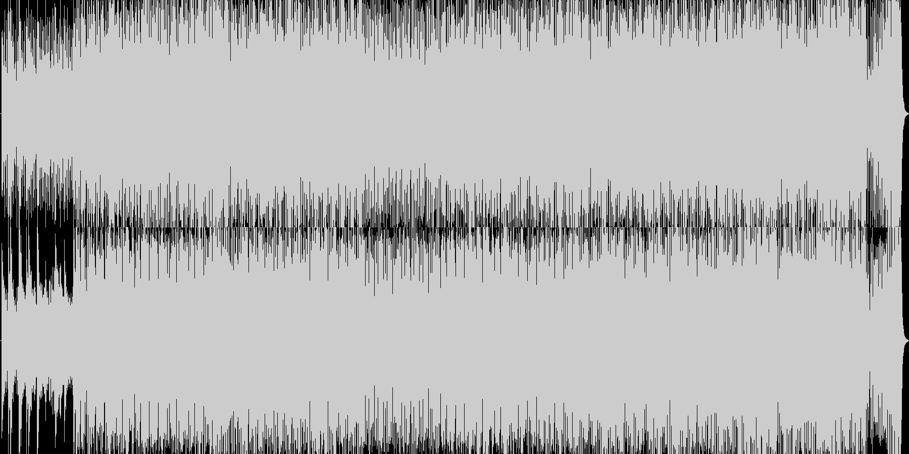 緊張感のあるオーケルトラ戦闘曲の未再生の波形
