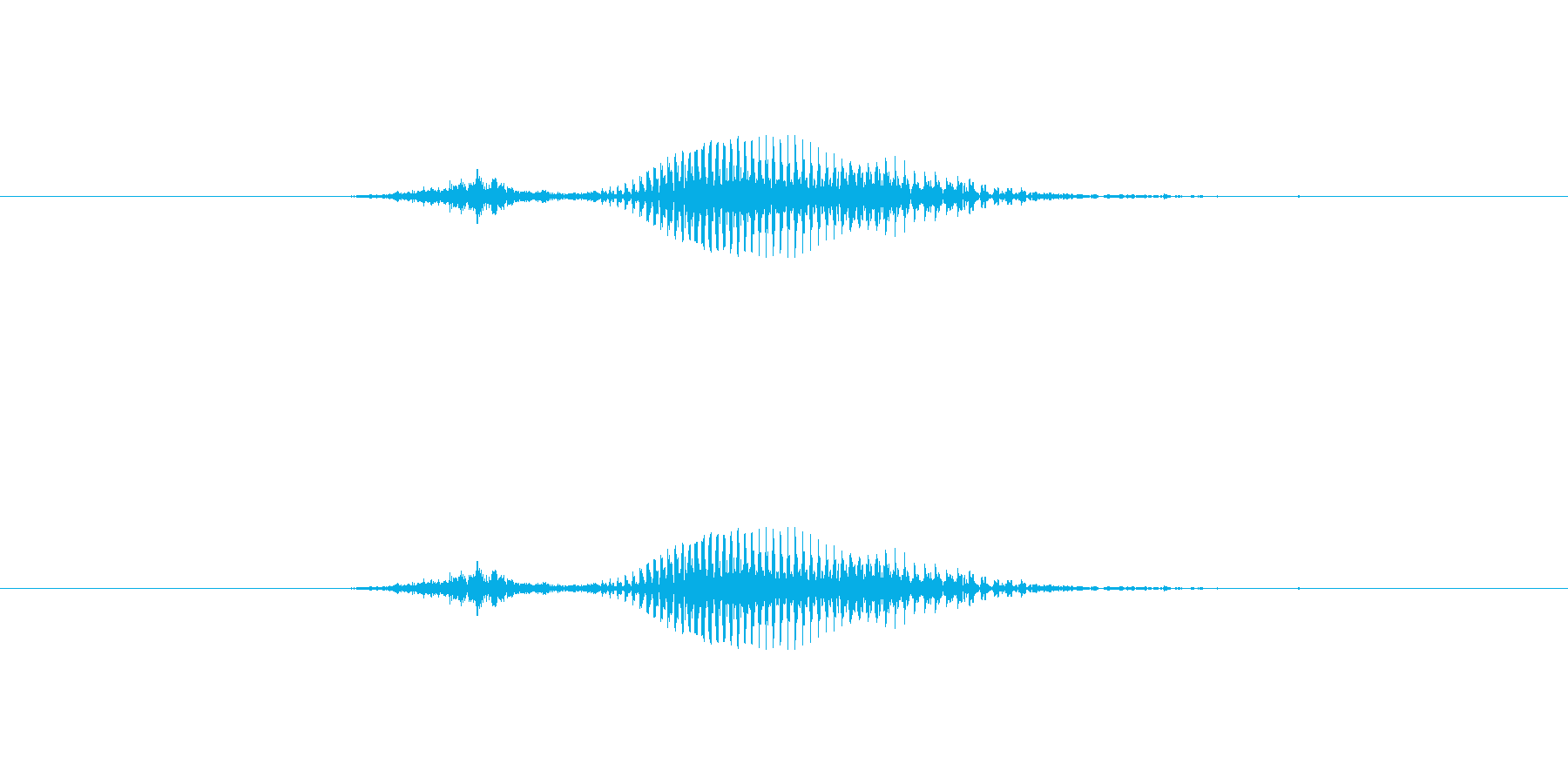 【数字】3(スリー)の再生済みの波形