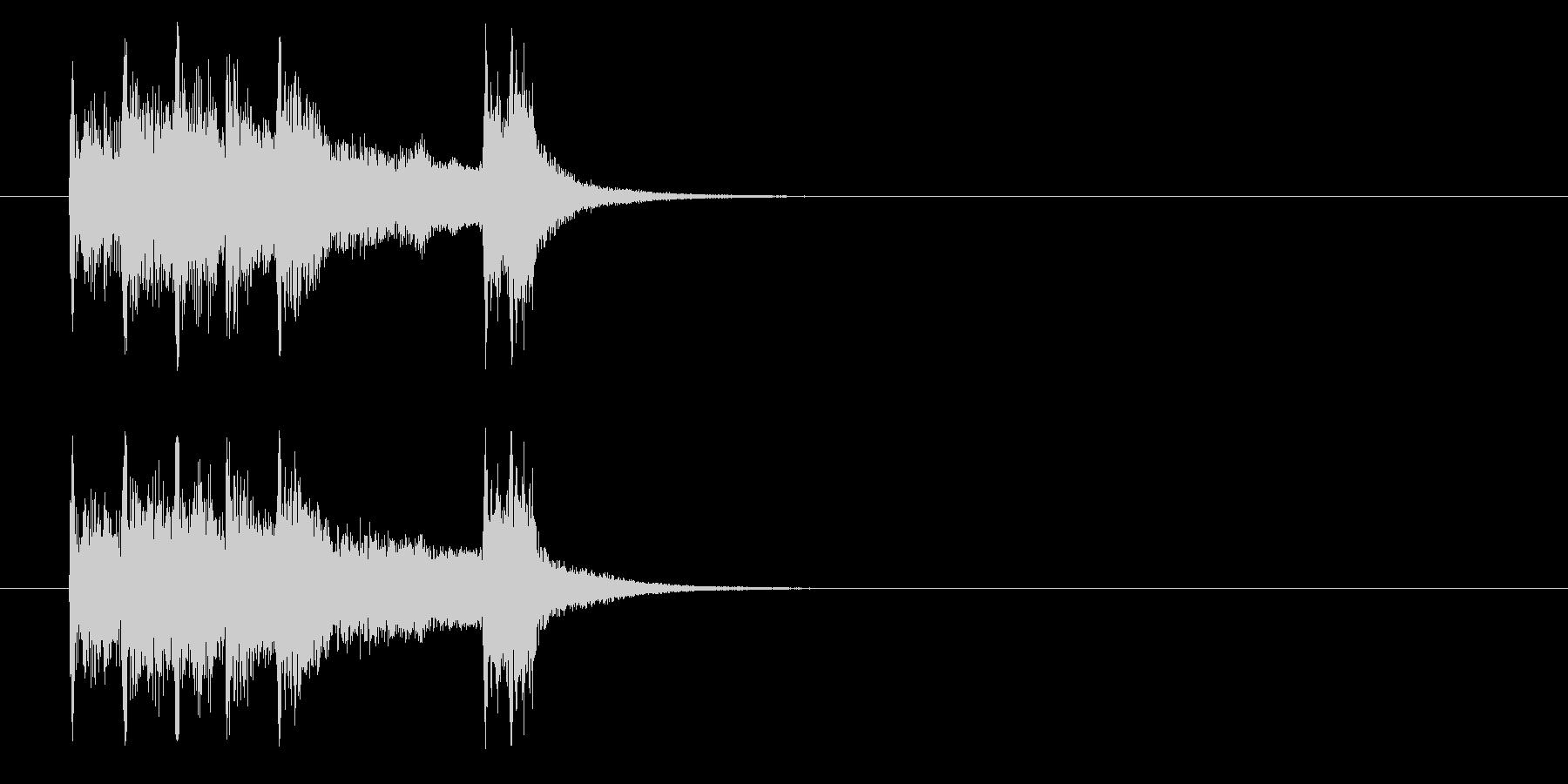 ジングル(ブラス系/クイズ向け)の未再生の波形