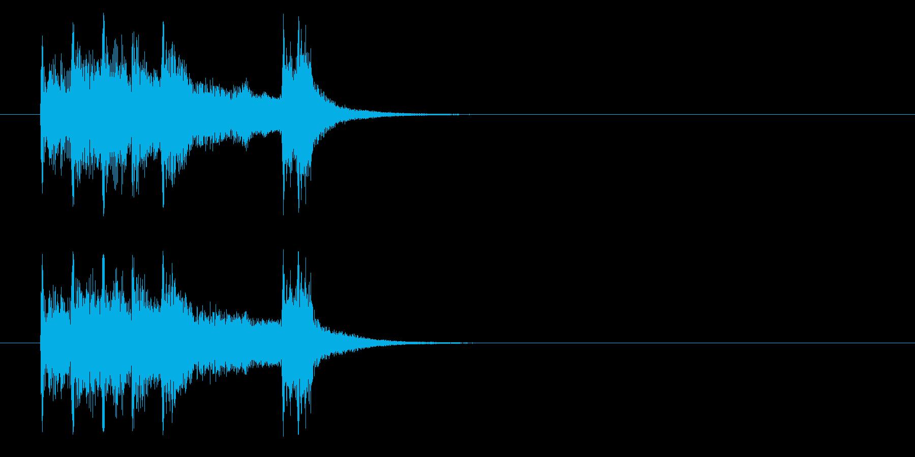 ジングル(ブラス系/クイズ向け)の再生済みの波形