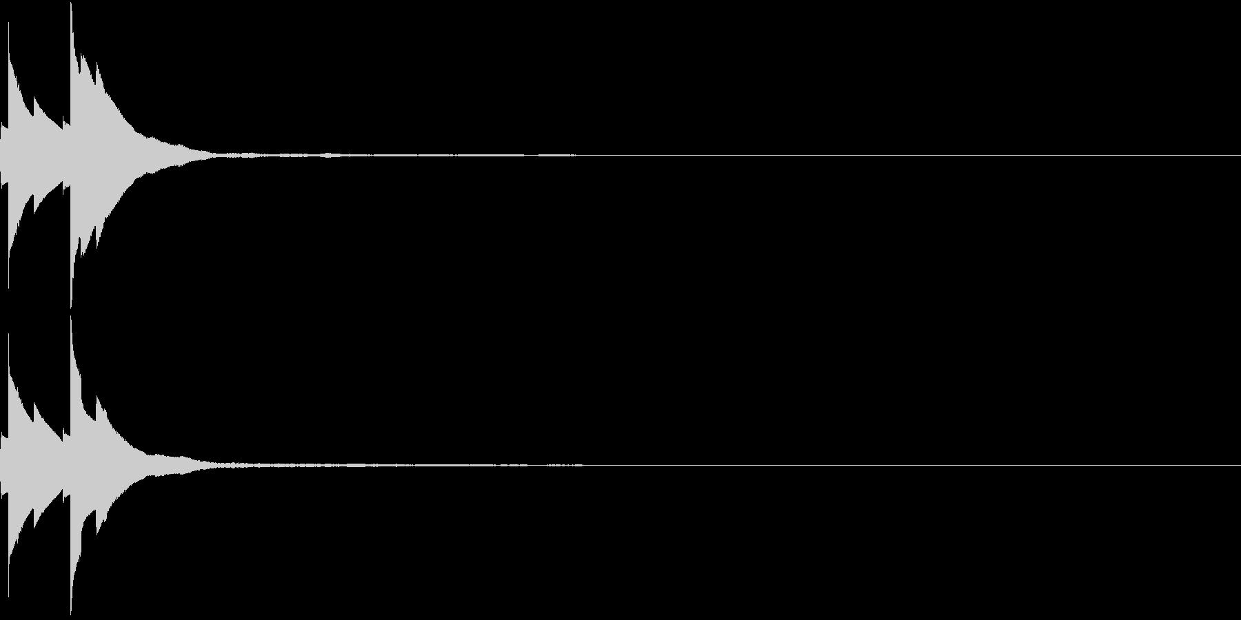 PAY 認証 決済音の未再生の波形