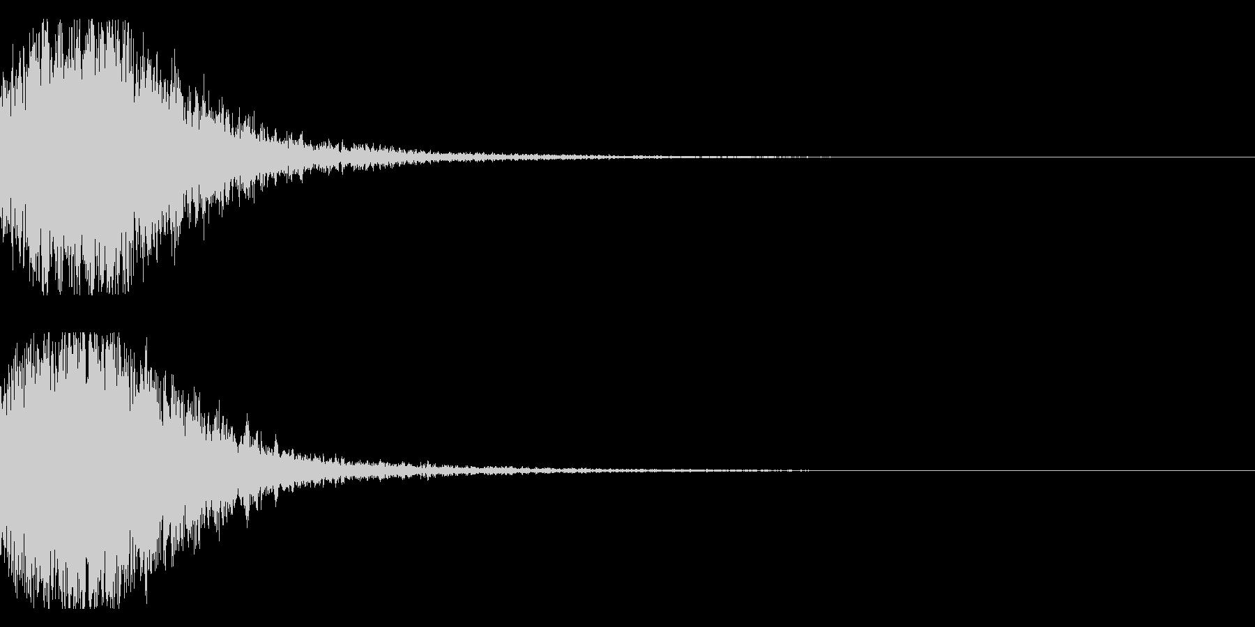 和風 オーケストラヒット ジングル!02の未再生の波形