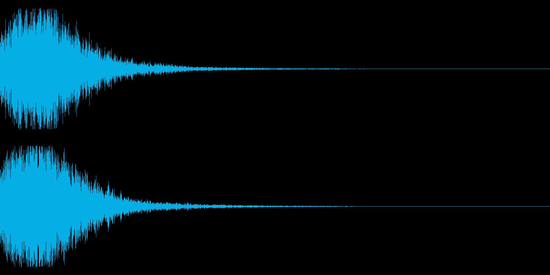 和風 オーケストラヒット ジングル!02の再生済みの波形