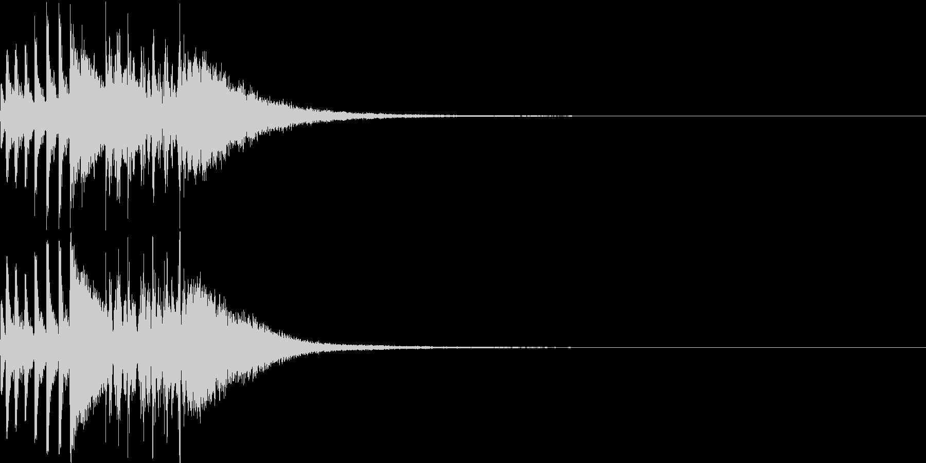 ゲームの対戦演出(ギターなし)の未再生の波形