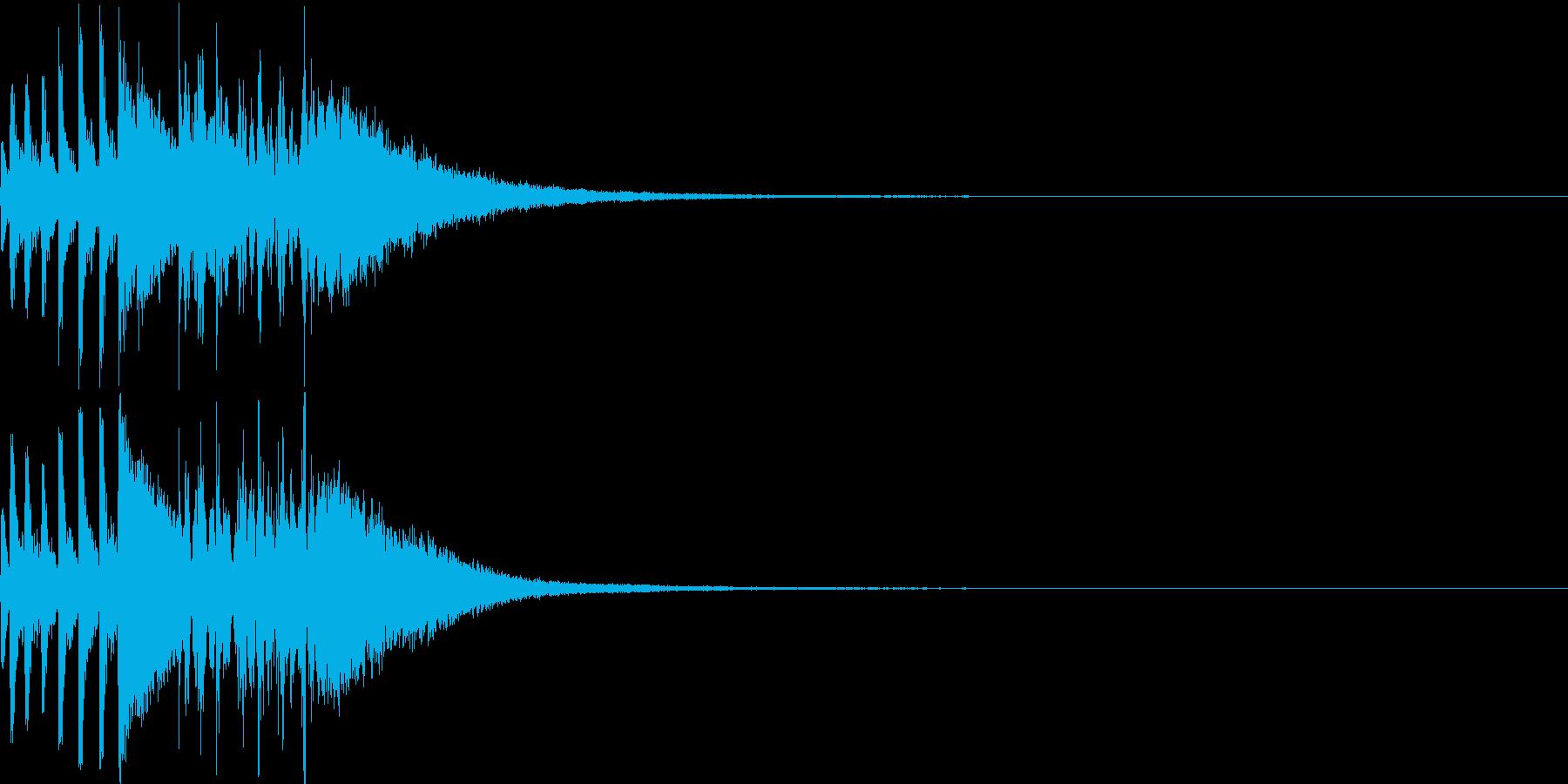 ゲームの対戦演出(ギターなし)の再生済みの波形