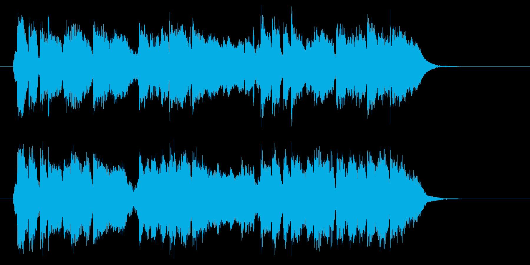 優しくて明るい音色のポップスのジングルの再生済みの波形