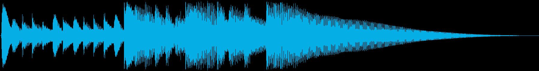 爽やかなゲームオーバーサウンドの再生済みの波形