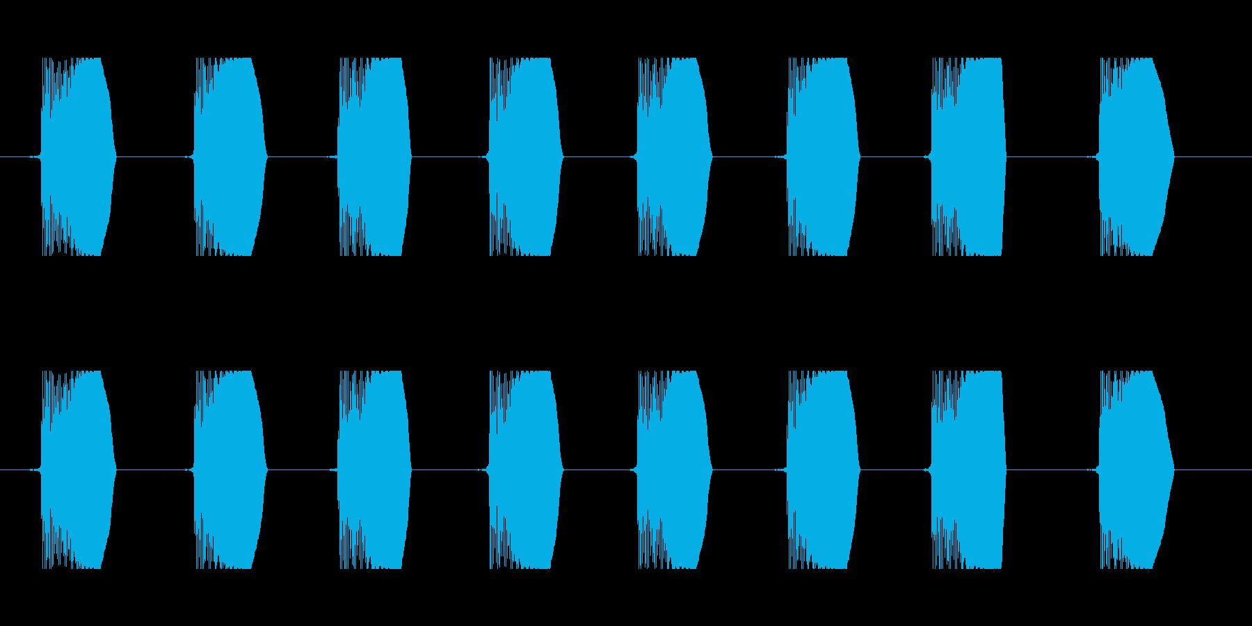 ビーム連射音 90b-2 コミカル 足音の再生済みの波形