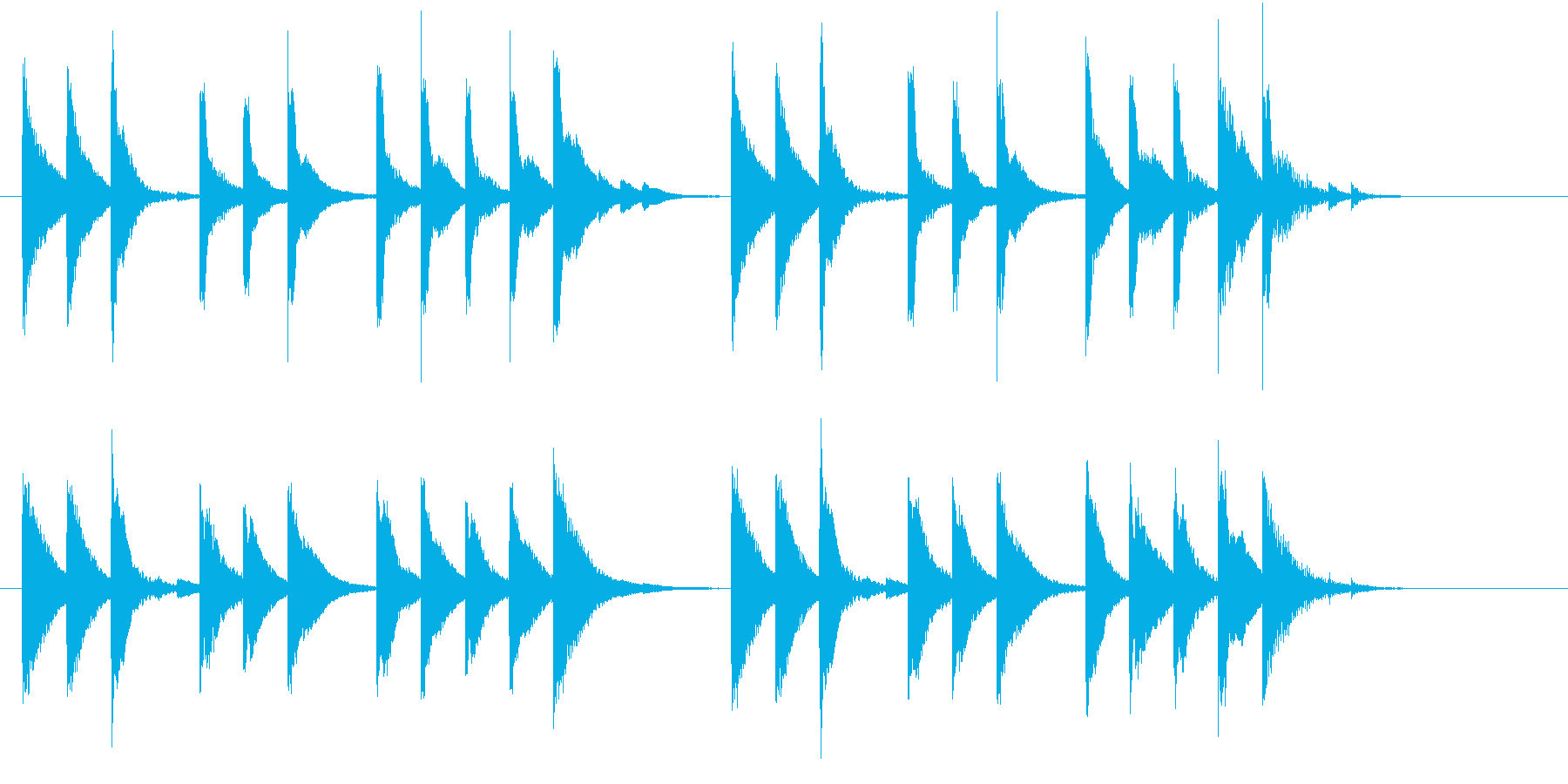 ほのぼのとしたシンプルなジングルの再生済みの波形
