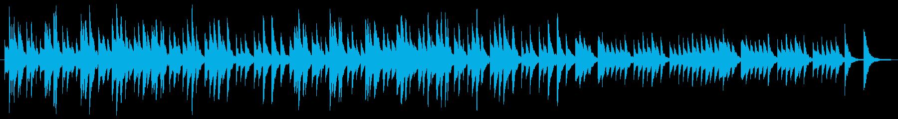 シンプルなオルゴールのショートループの再生済みの波形