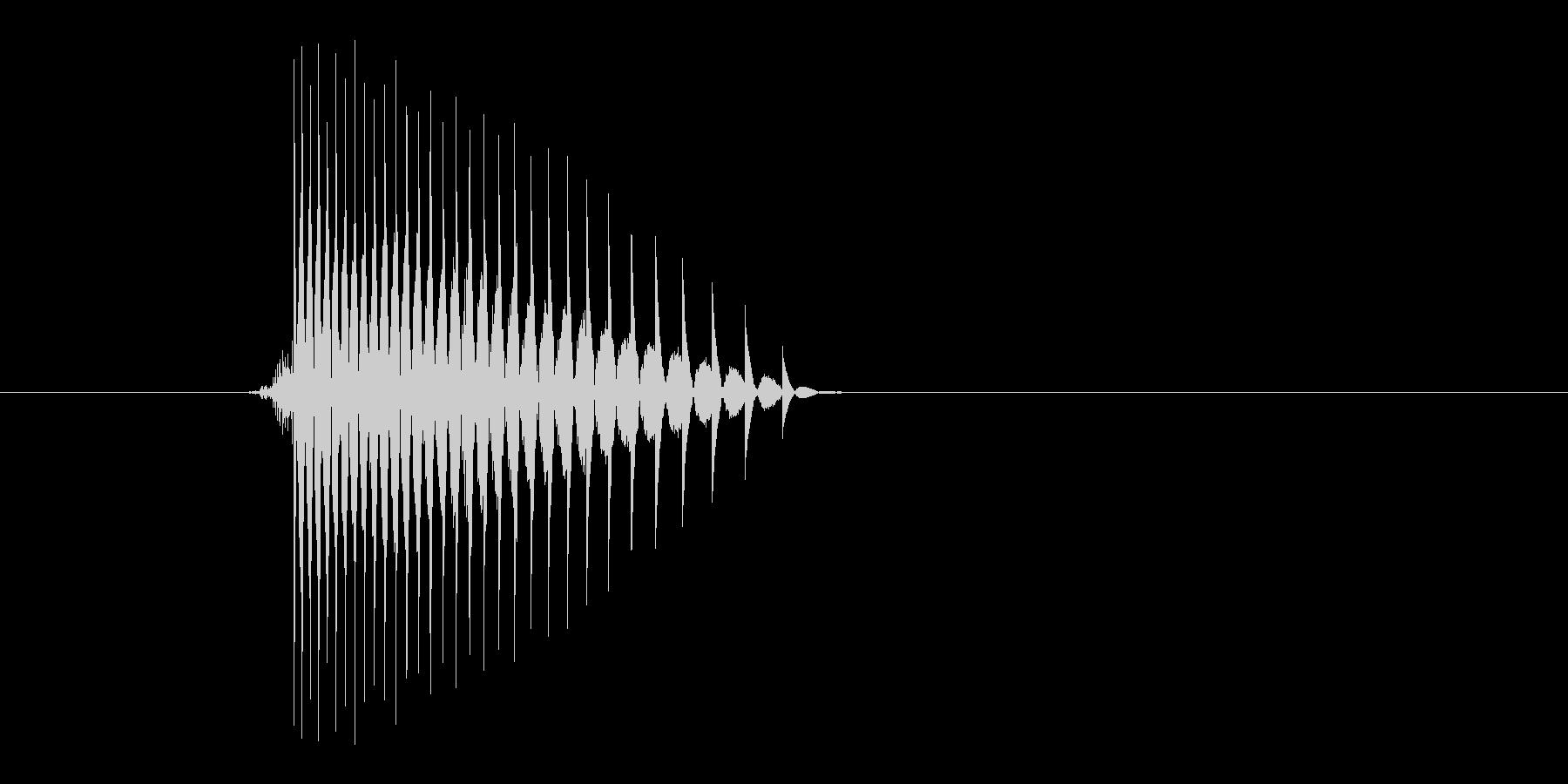 ゲーム(ファミコン風)ヒット音_010の未再生の波形