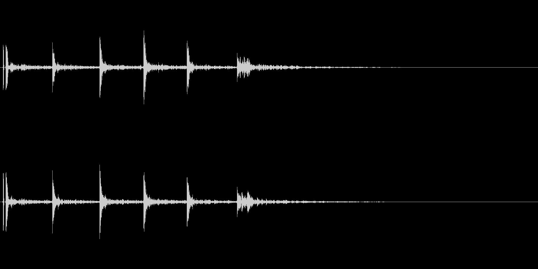 バスケットボールの軽いドリブル音01の未再生の波形