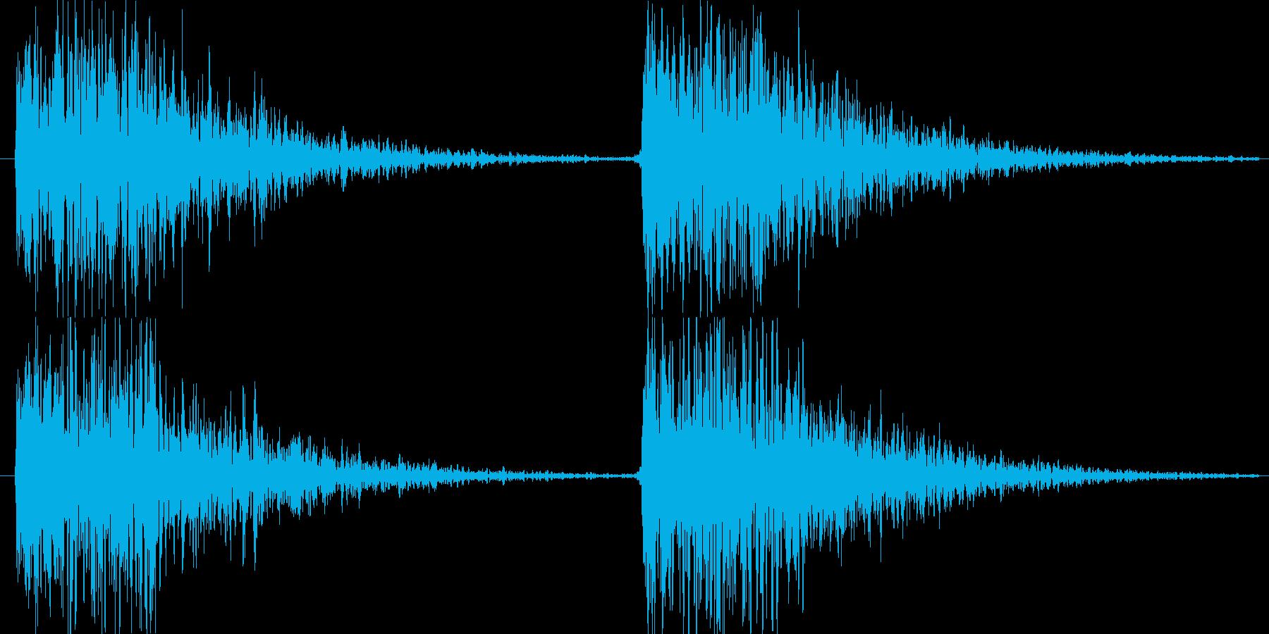 ぶわっ ぶわっの再生済みの波形