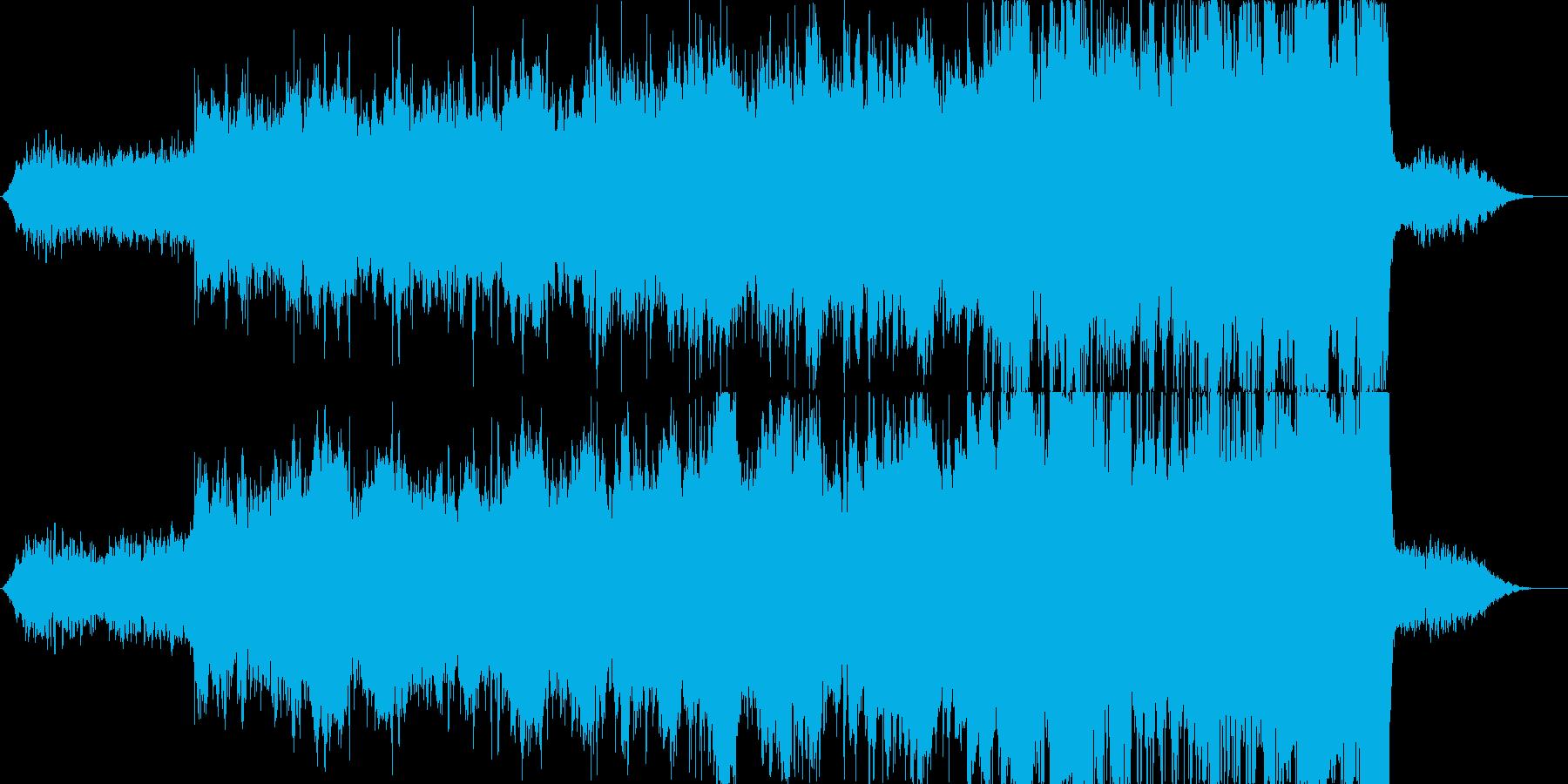 オーケストラとシンセ、企業イメージ向けの再生済みの波形