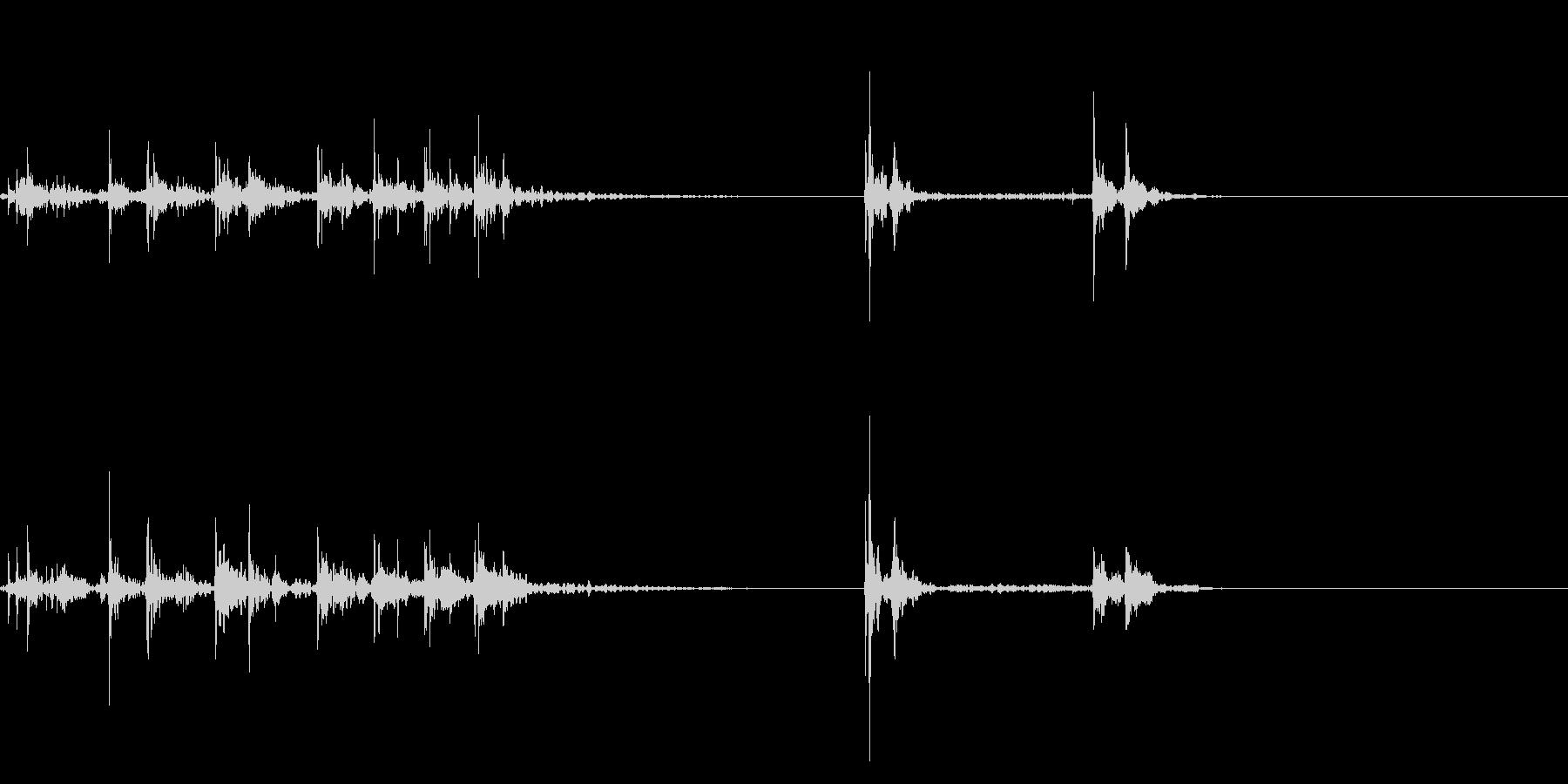 キーボードをタイピングするリアル効果音5の未再生の波形