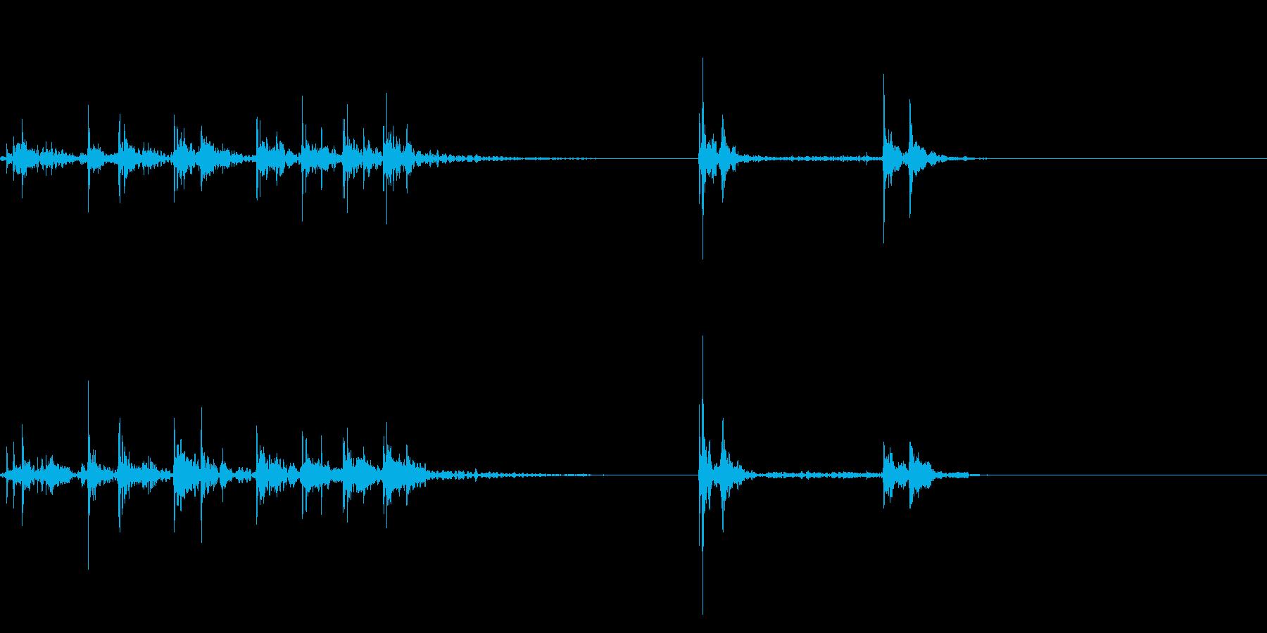 キーボードをタイピングするリアル効果音5の再生済みの波形