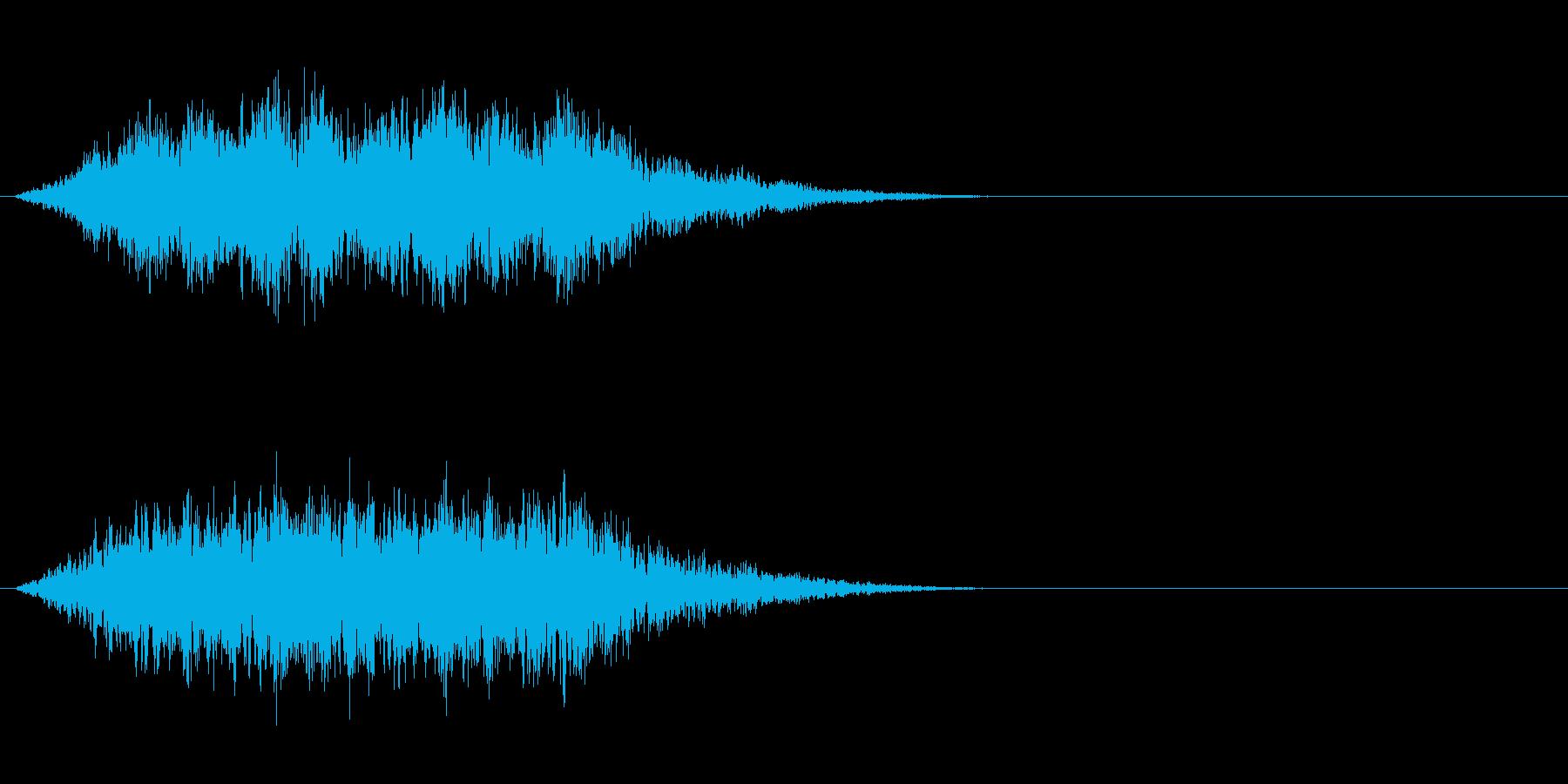 闇のエネルギー、オーラが発動する効果音1の再生済みの波形