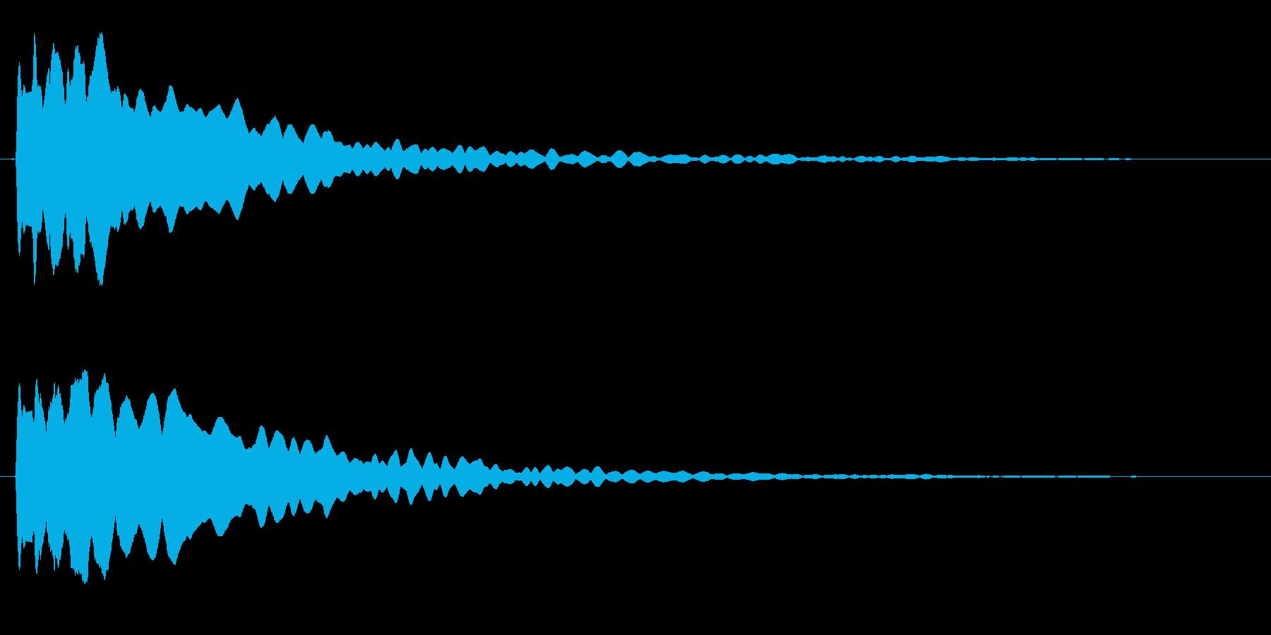 キーン(透明でキレの良い高音)の再生済みの波形