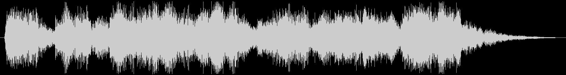 楽しげなアイキャッチ効果音の未再生の波形