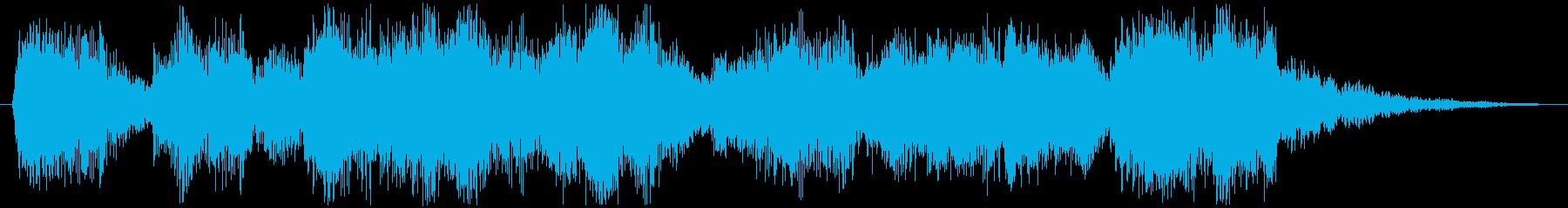楽しげなアイキャッチ効果音の再生済みの波形