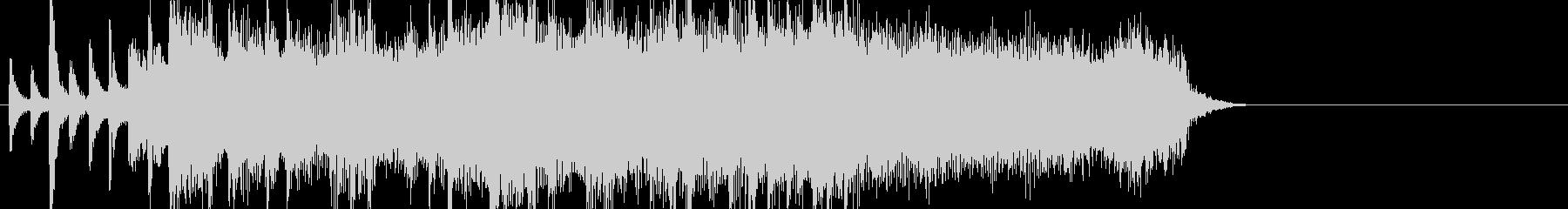 エキサイティングなロックジングルの未再生の波形