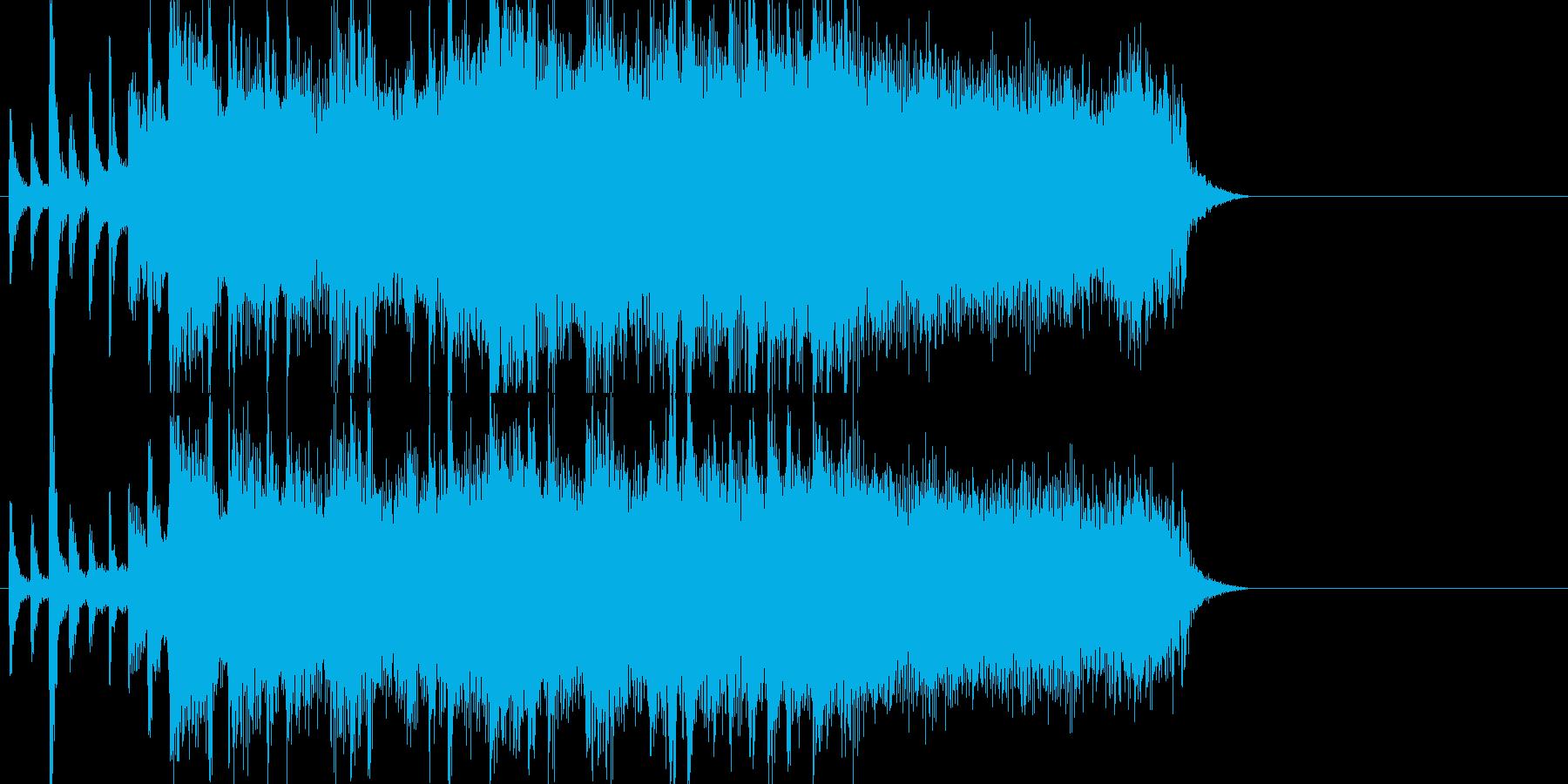エキサイティングなロックジングルの再生済みの波形