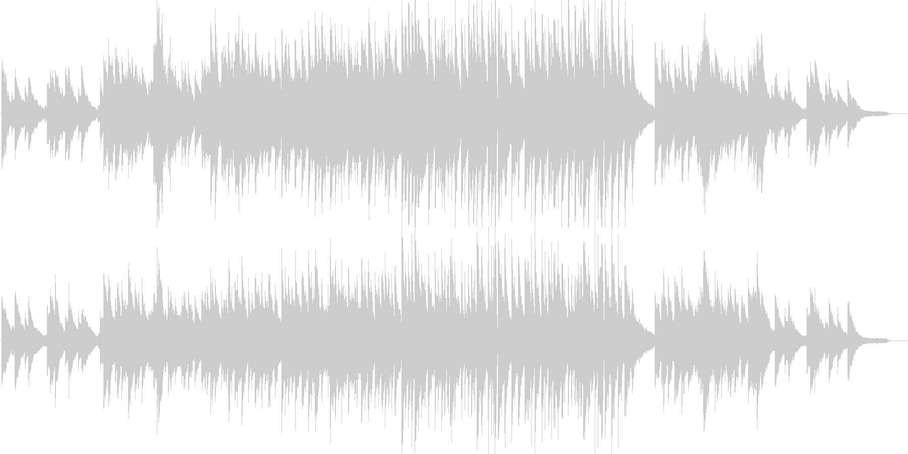 感動・わくわく・ピアノ・映像・イベント用の未再生の波形