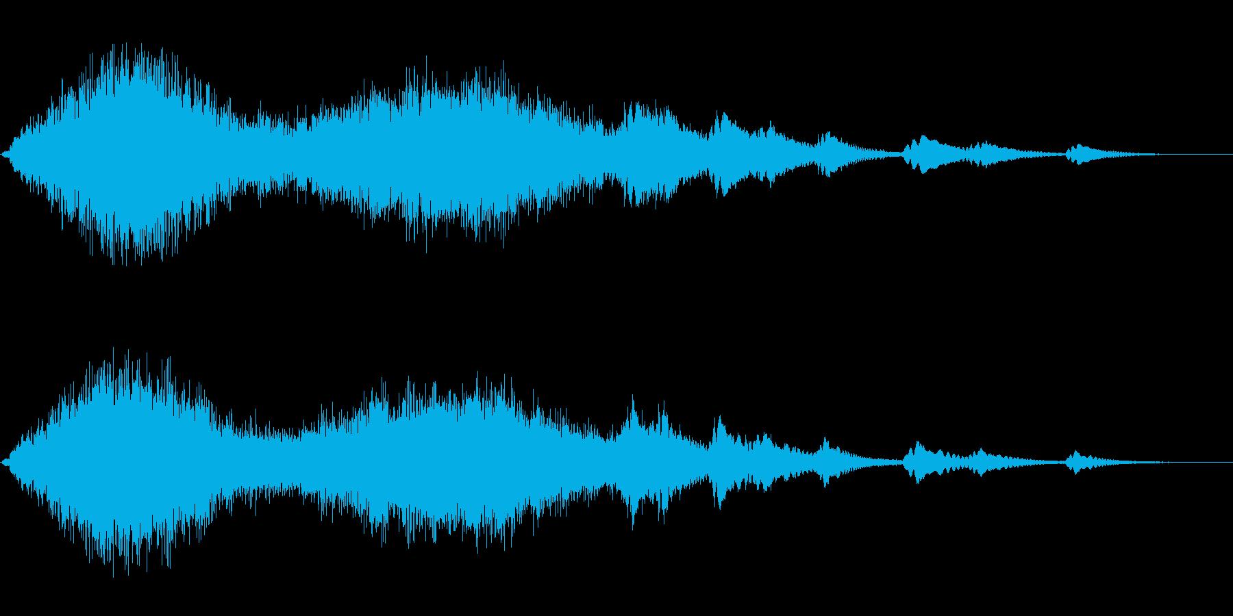 ジャララーンキラキラ(綺麗な魔法音)の再生済みの波形