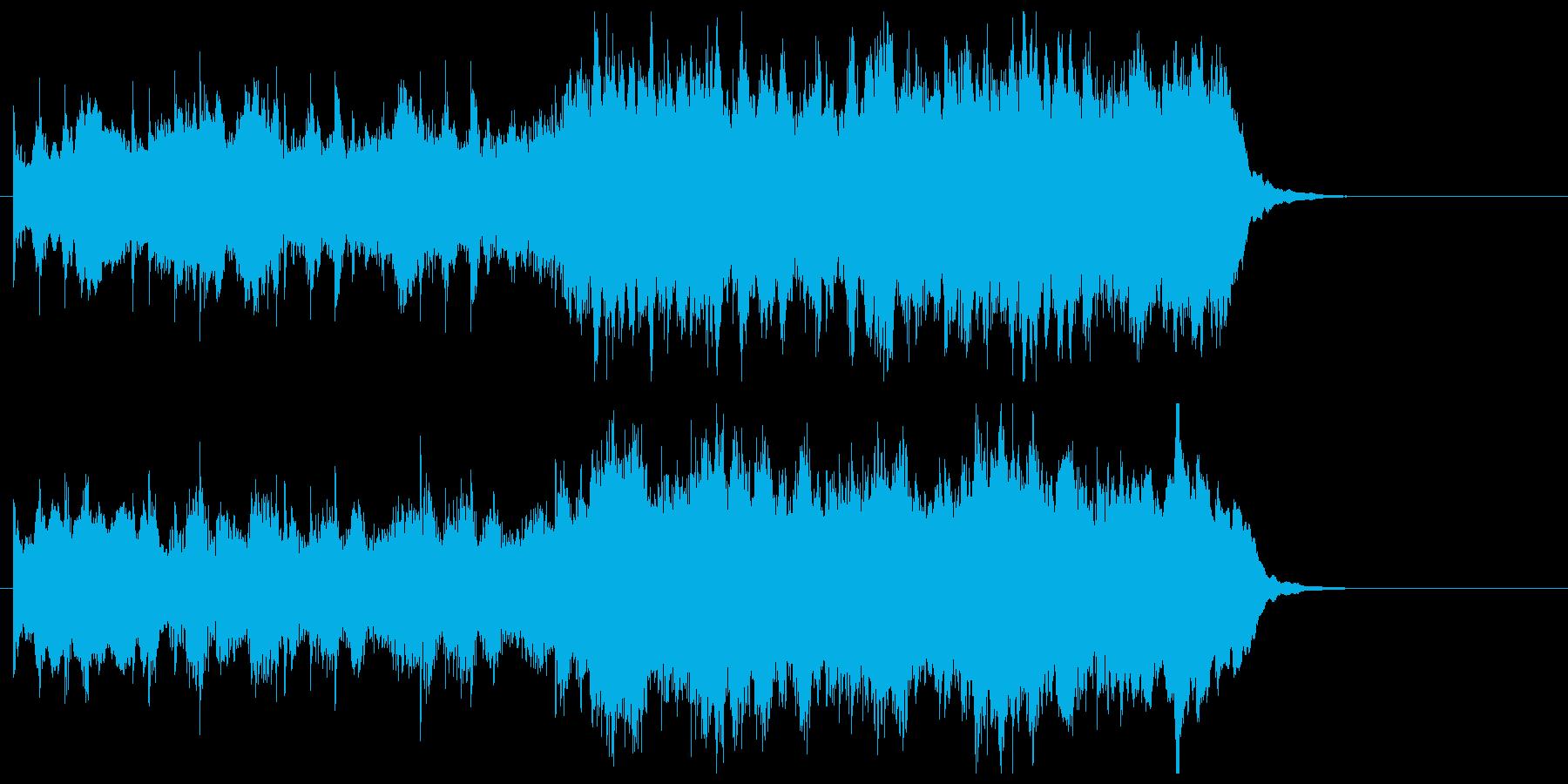 壮大でわくわくする感動のオーケストラの再生済みの波形